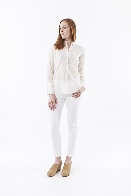 Nili Lotan Cotton Voile Shirt in White