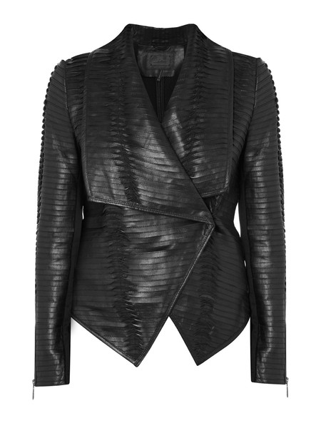 LINE COSMO LEATHER JACKET IN BLACK
