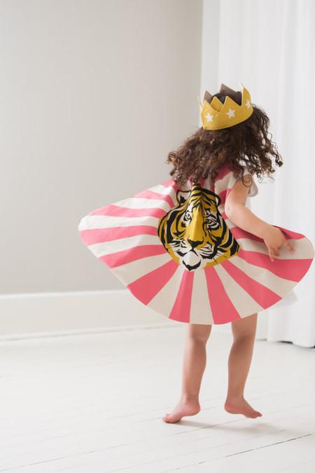 Lovelane Designs Tiger Cape in Pink Gold & Black