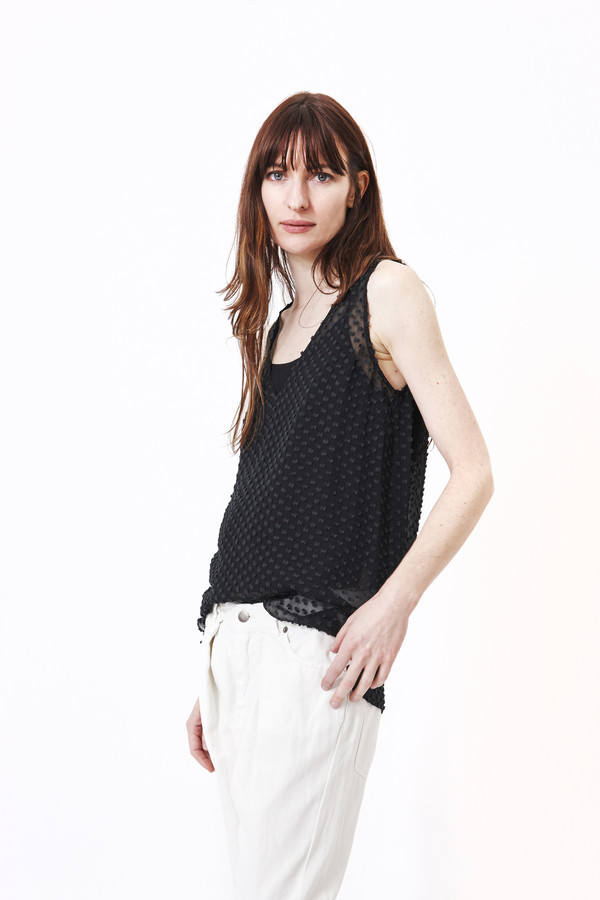 Silk Dot Tunic in Black by Jenni Kayne