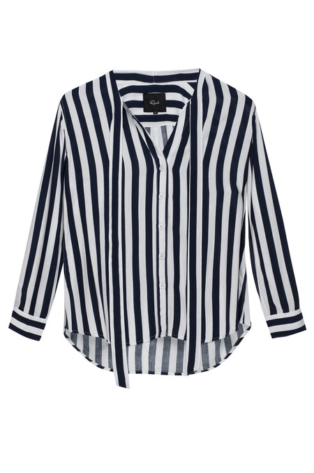 Rails Colette Striped Blouse in Navy & White