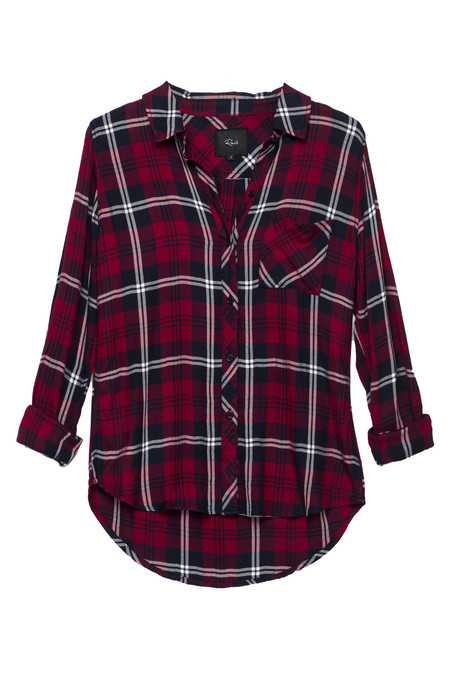Rails Hunter Button Down in Cherry Navy & White