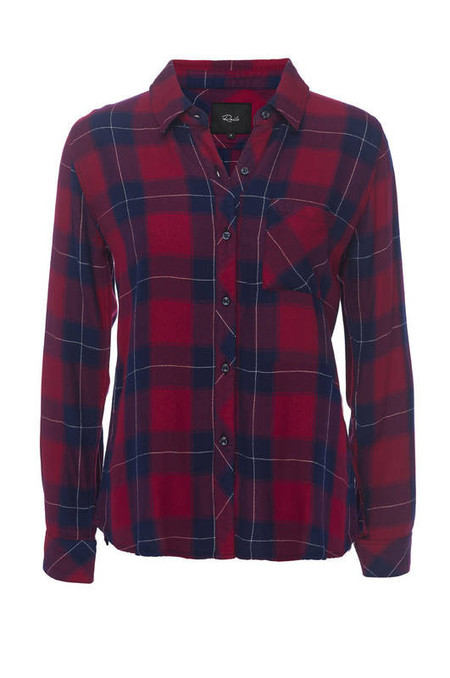 RAILS HUNTER BUTTON DOWN IN RUBY & NAVY
