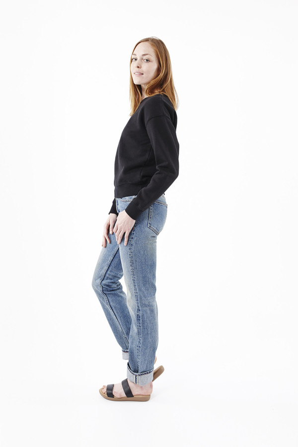 EARNEST SEWN Victoria Straight Leg Jeans in Light Blue