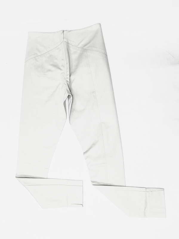 Berenik Skinny High Waist Stretch Trousers, Light Gray