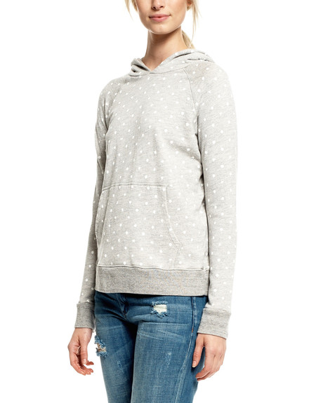 SUNDRY Dotted Pullover Hoodie