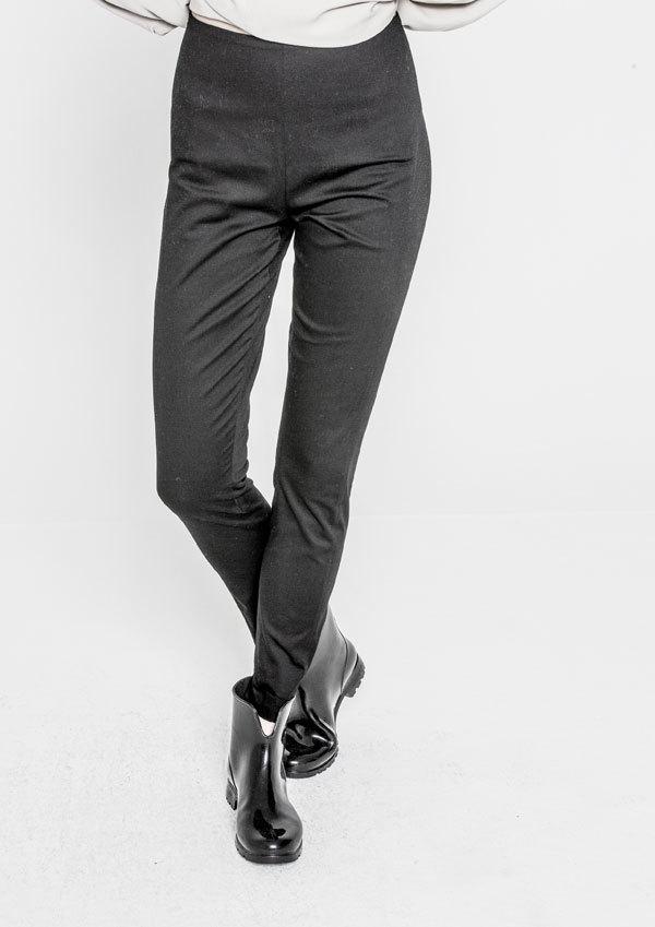 Berenik Trousers Skinny Stretch Plain- Black