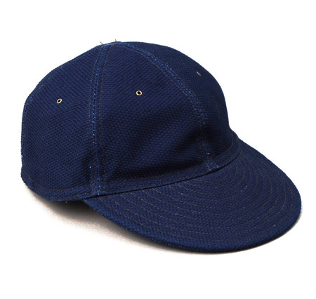 Men's The Hill-Side Ball Cap / Selvedge Lightweight Indigo Sashiko