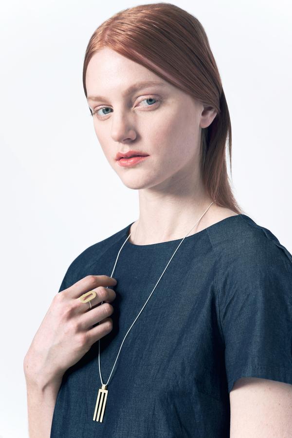 Natalie Joy Tri Line Necklace