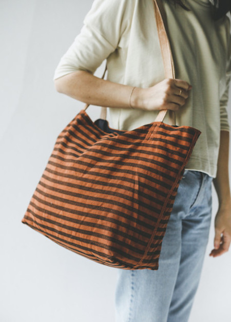 Proud Mary Tote Bag in Copper Stripe