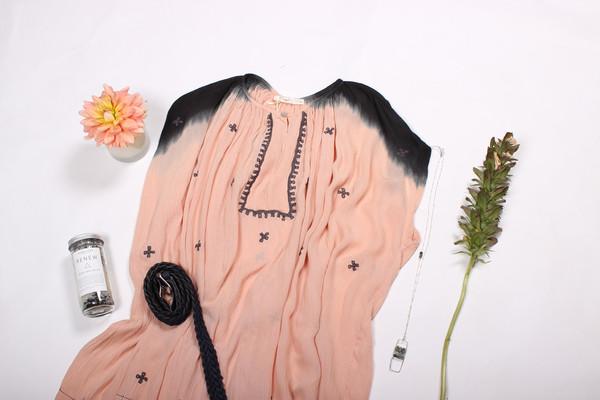 Hazel Embroidered Tie Dye Tunic