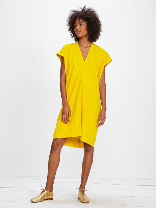 Miranda Bennett HIGH PLAINS DRESS / MARIGOLD SILK NOIL - TRS EXCLUSIVE