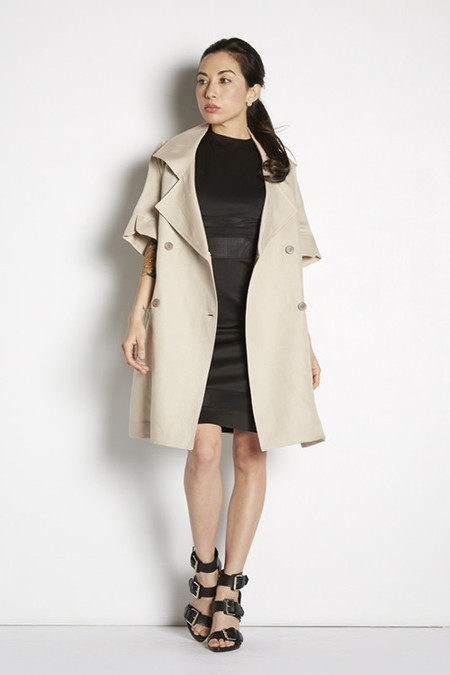 Cropped Sleeve Trench