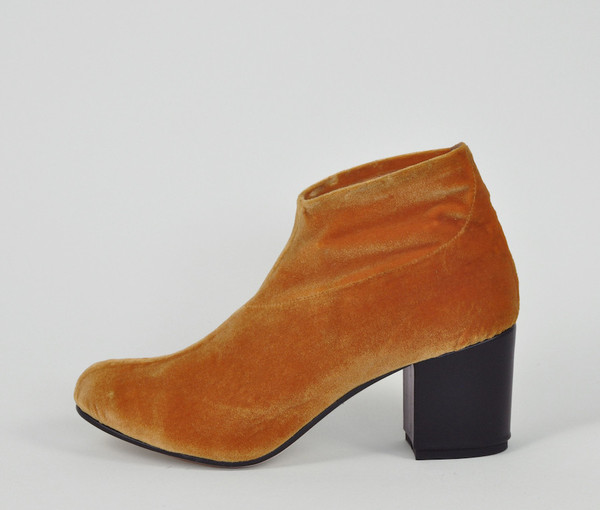 The Palatines Shoes sano stretch bootie - chrome velvet