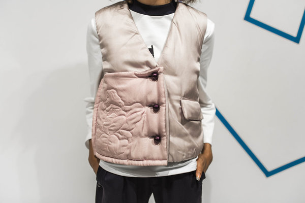 Steven Tai Peony Quilted Vest