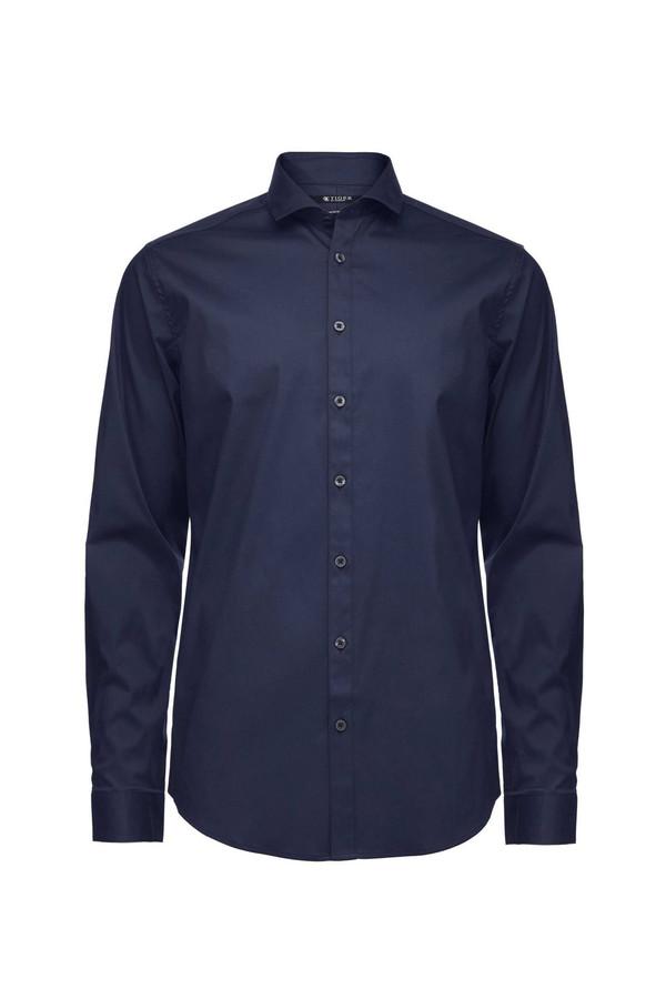 Men's Tiger of Sweden Steel 1 Cotton Shirt - Royal Blue