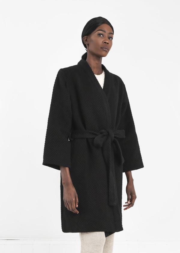 Wray Black Mantle Robe Coat