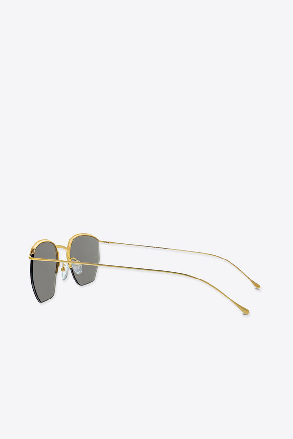 Smoke x Mirrors Geo I sunglasses in gold/light green