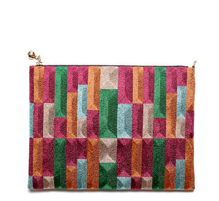 Anne Grand-Clément Tetris Multicolor Extra Medium Pouch