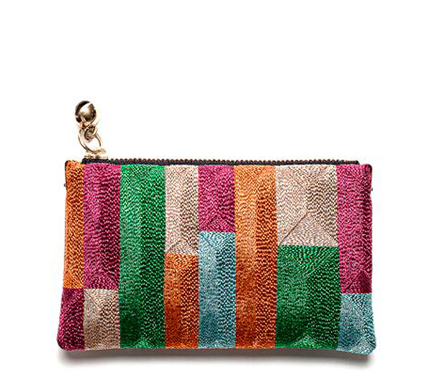 Anne Grand-Clément Tetris Multicolor Extra Small Pouch
