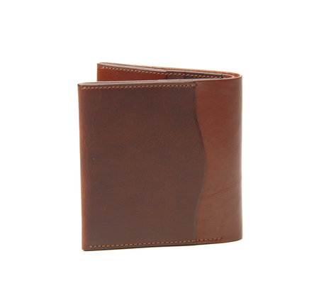 Anchor Bridge Red Brown Ab Billfold Wallet