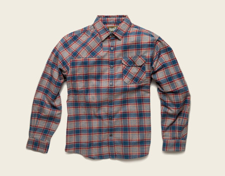 Men's Howler Brothers Harker's Flannel - Heather Grey