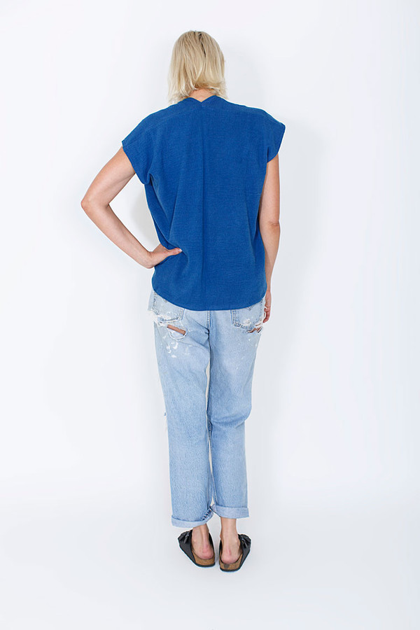 Miranda Bennett In-Stock: Everyday Top, Lined Cotton Gauze in Indigo