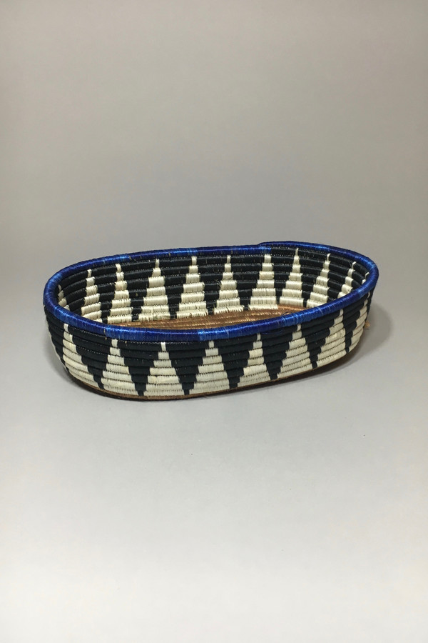 All Across Africa Black/Indigo Bread Basket