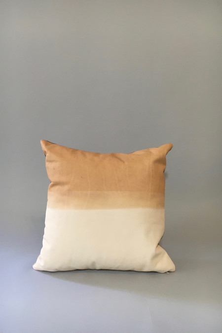 Materials + Process Two-Toned Modern Leather Pillow, large