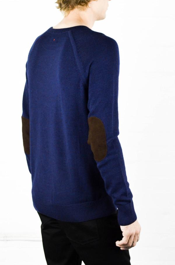 Men's Apolis Alpaca Crew Neck Navy Sweater