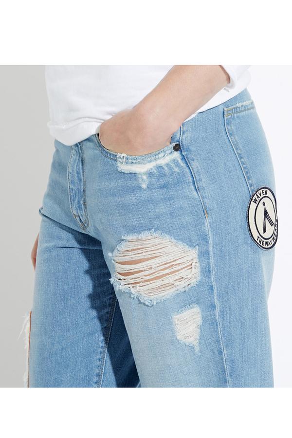 WAVEN Aki Boyfriends Jeans- Idol Blue
