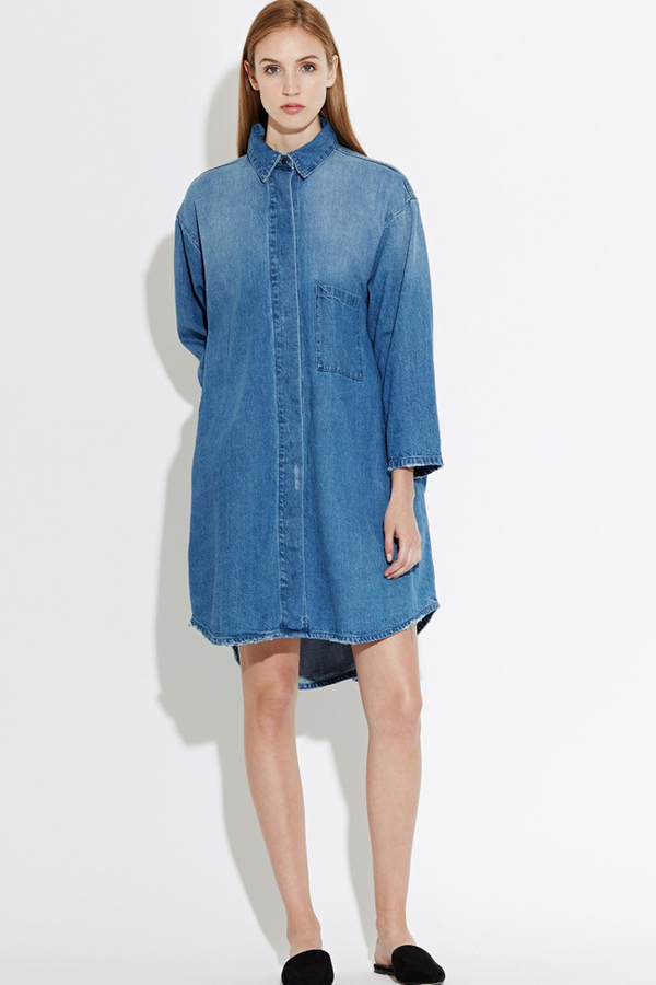 WAVEN Sigvor Shirt Dress- Sea Blue