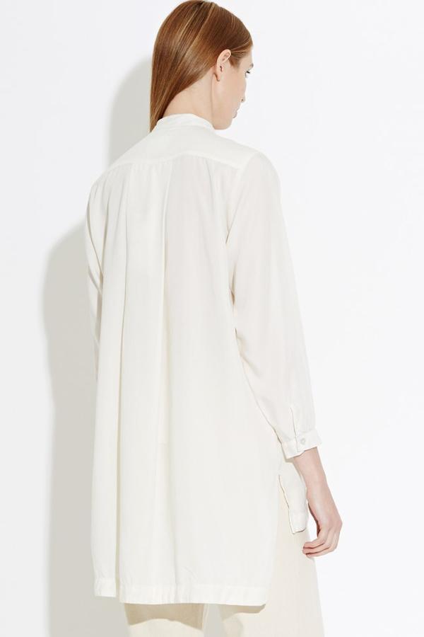 WAVEN Agnes Mandarin Shirt- White