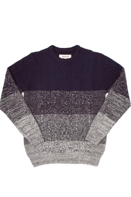 Men's Barque Cableknit Gradient Sweater Navy