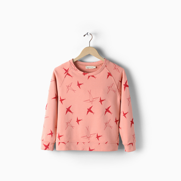 Andorine Pink Printed Sweat