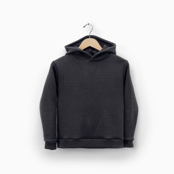 Andorine Black Hooded Sweatshirt