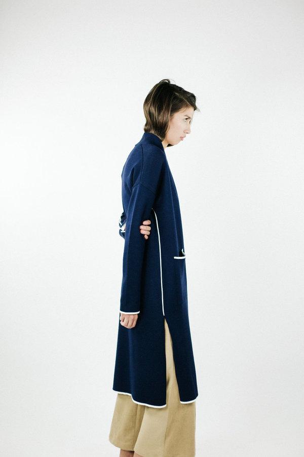 Achro Slim Long Cardigan - Navy