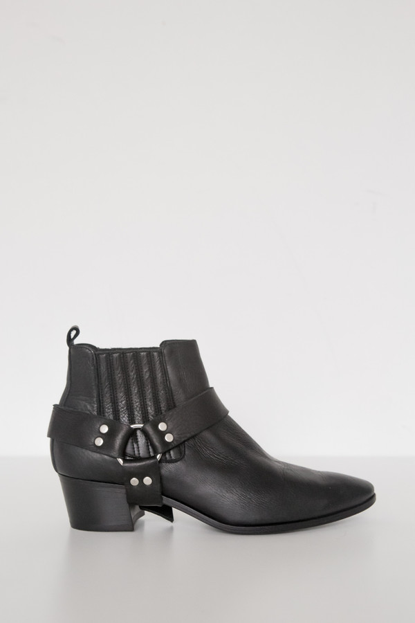 Assembly New York Leather Harness Boot - Black