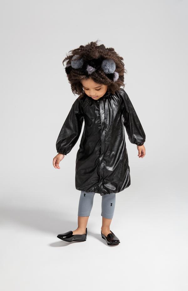 OMAMImini Black Bubble Coat