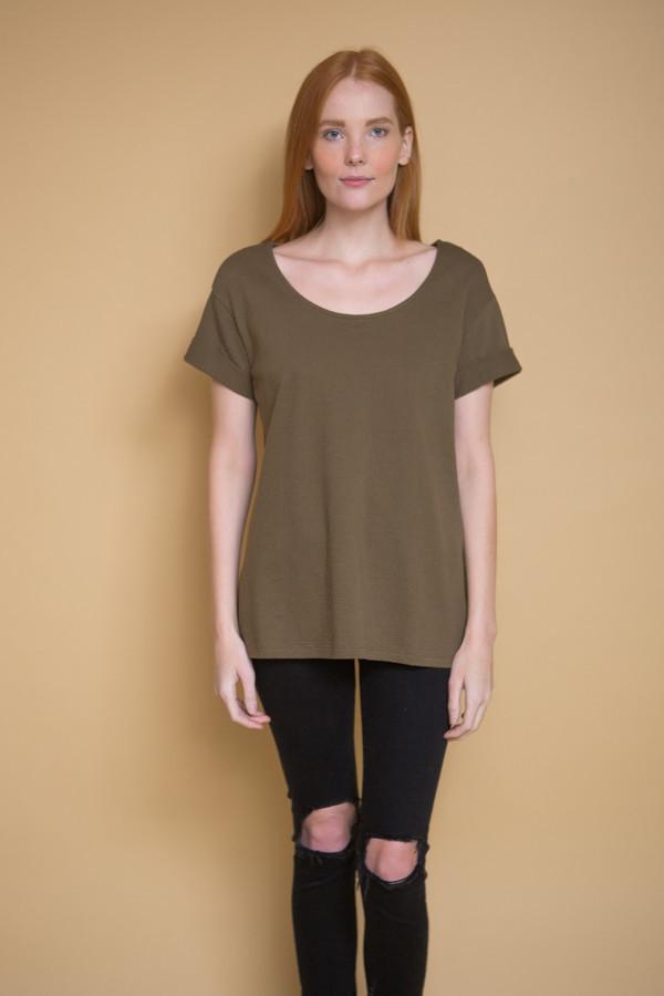 Ali Golden Roll Sleeve T-Shirt / Olive