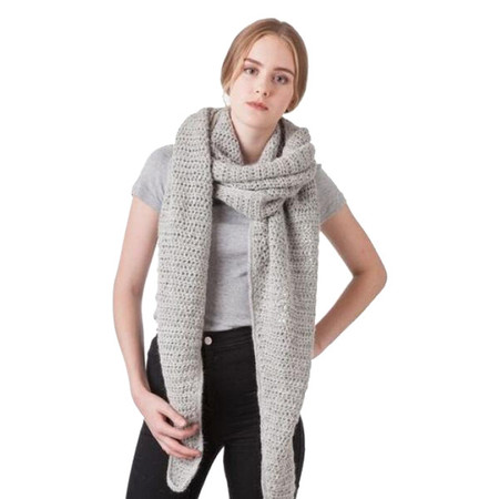 Bare Knitwear Haight Scarf in Light Grey