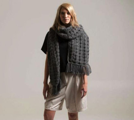 Bare Knitwear Josephine Scarf in Dark Grey
