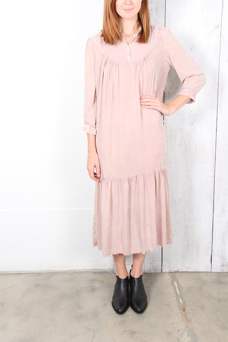 Raquel Allegra VICTORIAN NECK DRESS