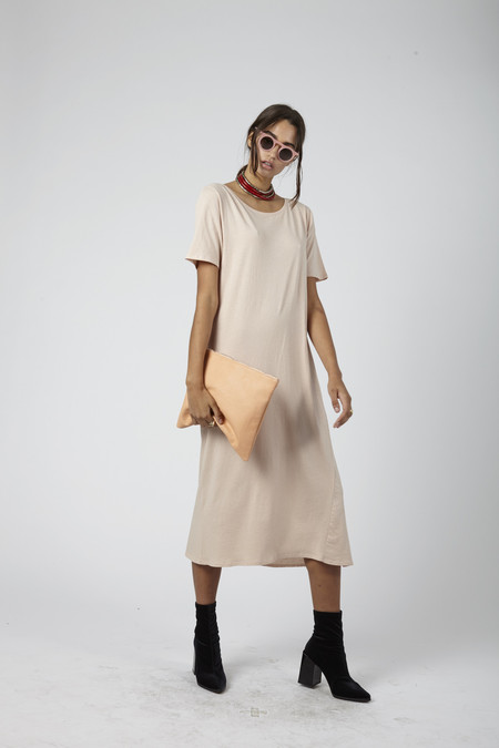 Kowtow Building Block Tee Shirt Dress - Blush