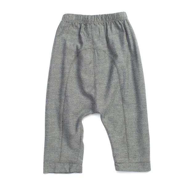 Bacabuche Chambray Trouser Charcoal Melange