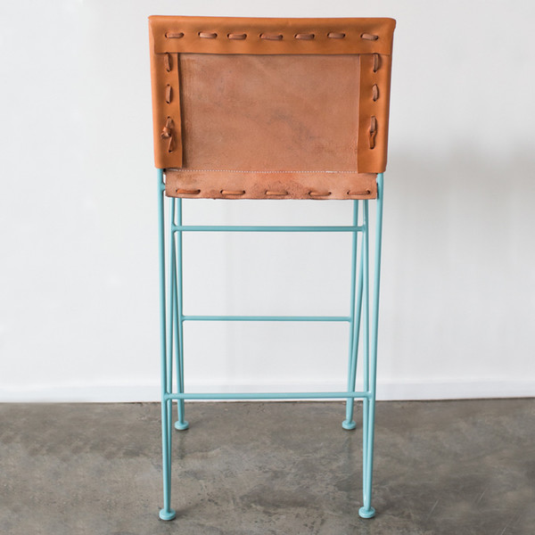 GARZA MARFA Saddle Leather Bar Stool