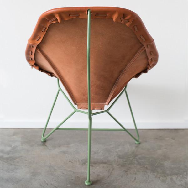 GARZA MARFA Saddle Leather Oval Chair