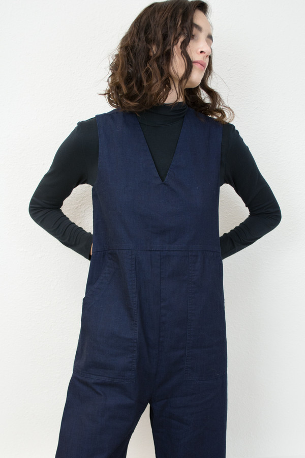 Micaela Greg Denim Utility Jumpsuit