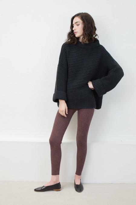 Micaela Greg Melange Black Parallel Pullover