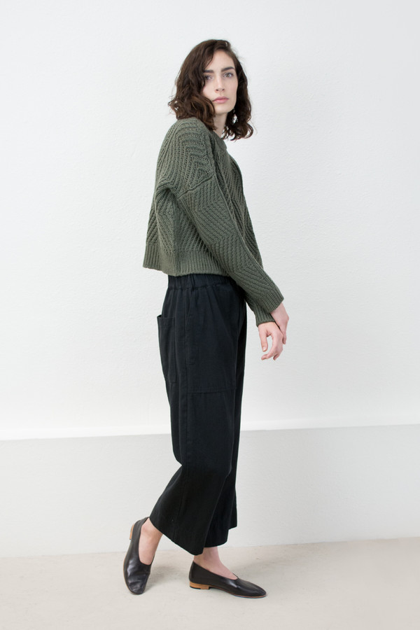 Micaela Greg Olive Bevel Sweater